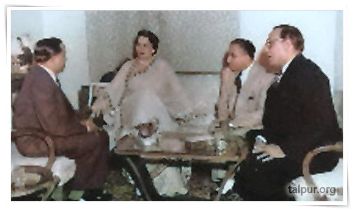 Photo of Mir Ali Nawaz Sr with Kazi Akber and Governor Sindh, H. I. Rahimtoola.