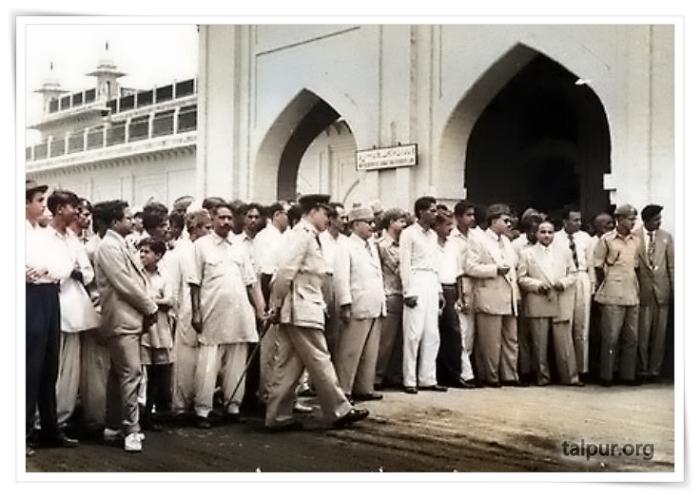 Picture of Mir Ali Nawaz Talpur of Tando Muammad Khan, at Hyderabad, Sindh Train Station
