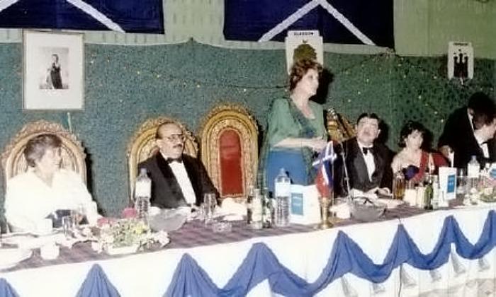 Photo of Mushtaq Talpur at St. Andrews Ball, organized by the Caledonian Society, Karachi.
