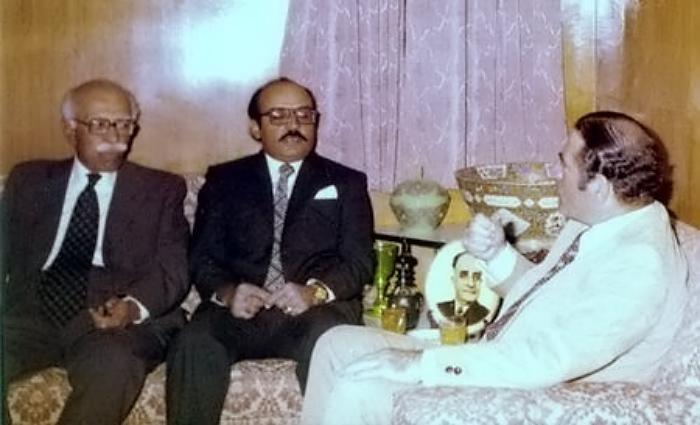 Mushtaq Ali Talpur, with the then Ambassador of Lebanon to Pakistan