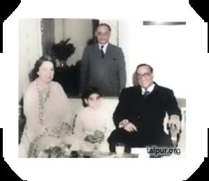 Photo of Mir Ghulam Ali Talpur with the then Governor Sindh, Habib Ibrahim Rahimtoola