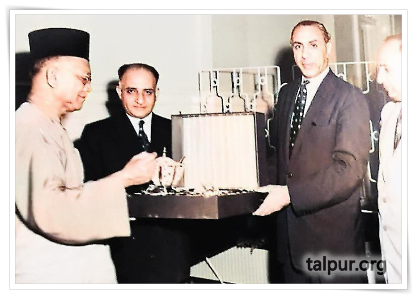 Photo of Mir Ghulam Ali Khan Talpur and the first King of Malaysia