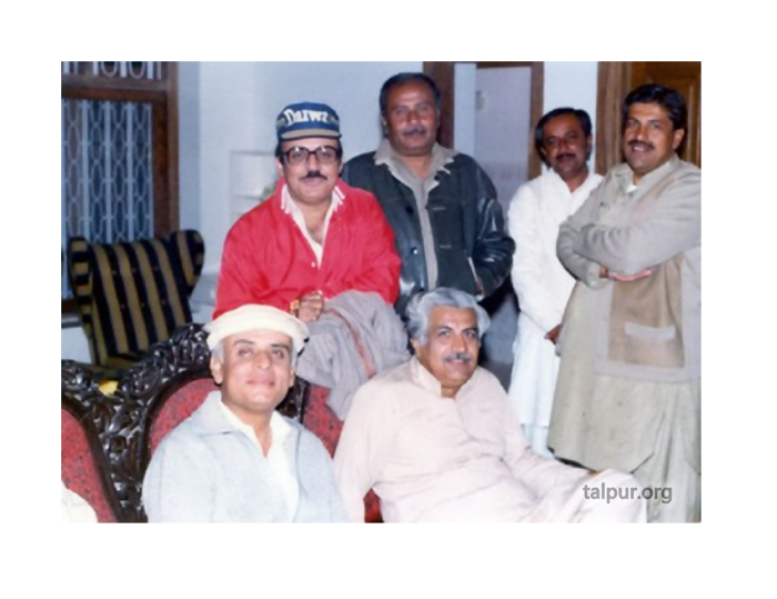 Photo of Mumtaz Talpur. Mushtaq Talpur with Ghulam Mustafa Jatoi