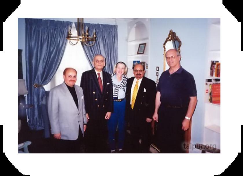 Year 2000 visit to London: Visiting former British High Commissioner to Karachi E. Callaway (L-R) Mir Ghulamullah Talpur, (Late) Gudrun Callaway, Mushtaq Talpur and E. Callaway.