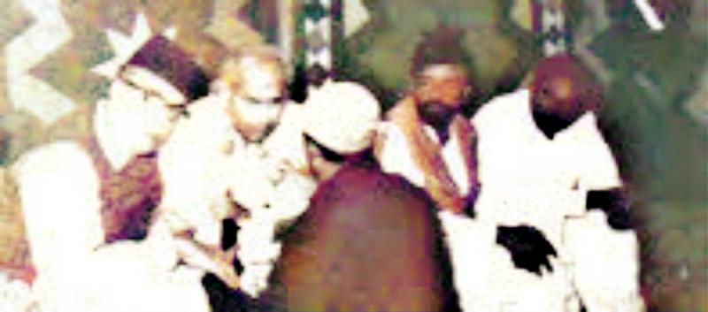 Photograph of Mir Yar Muhammad Talpur and Zulfiqar Ali Bhutto