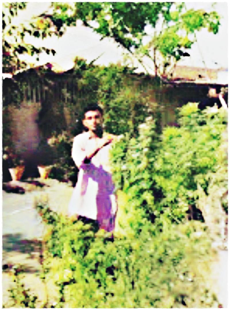 Mir Haji Yar Muhammad Talpur as young student at Garden West, Karachi residence