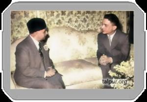Photograph of Mir Ghulam Ali Khan Talpur with Late King Hussein of Jordan