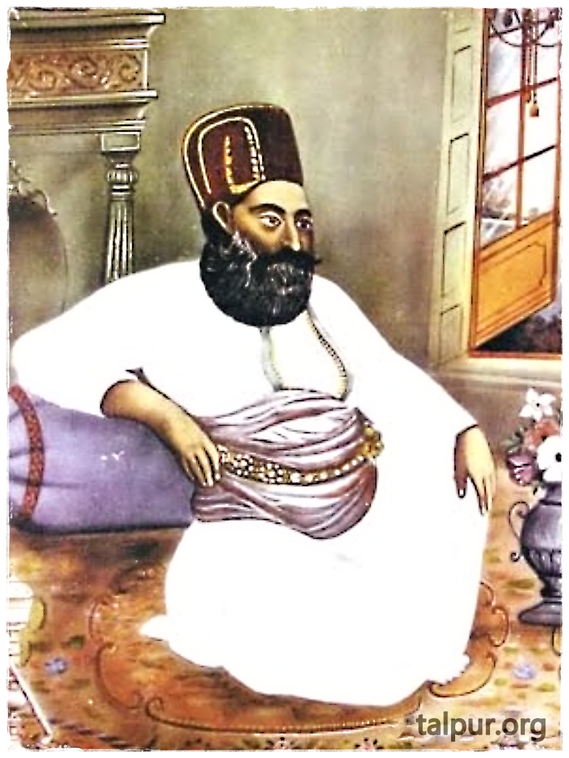 Photo of Mir Sohrab Khan Talpur, the first ruler of the Khairpur Mirs State in Upper Sindh
