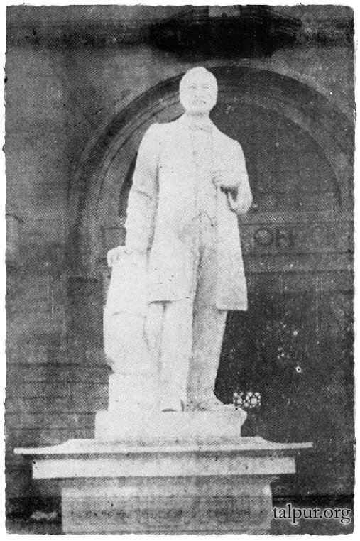 The statue of Harchandrai Vishandas